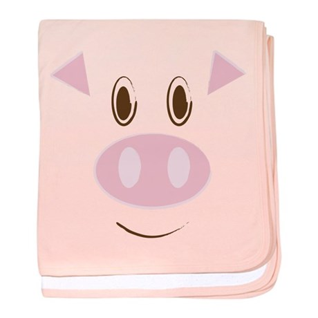 Cute Little Piggy's Face baby blanket