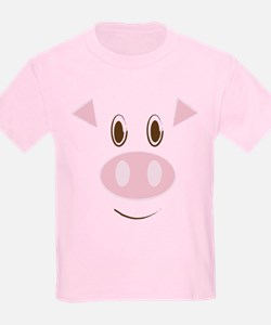 Cute Little Piggy's Face T-Shirt