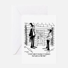 Lincoln's Fire Trap Greeting Card