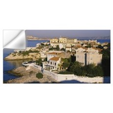 High angle view of houses on the hillside, Malmous Wall Decal