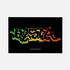 Rasta Sticker 2 Rectangle Magnet