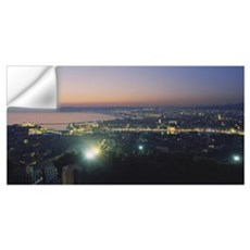 High angle view of a city, Marseille, France Wall Decal