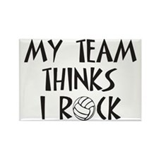 Men's Volleyball Coach Rectangle Magnet