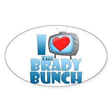 I Heart The Brady Bunch Oval Decal