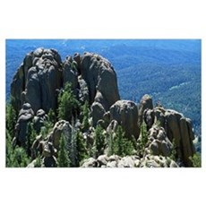 Rock formations, Pike National Forest, Colorado Poster