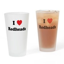 I Heart Redheads Drinking Glass