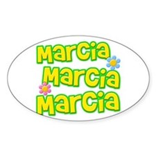 Marcia, Marcia, Marcia Oval Decal