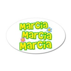 Marcia, Marcia, Marcia 22x14 Oval Wall Peel