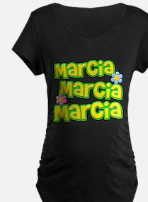 Marcia, Marcia, Marcia Dark Maternity T-Shirt