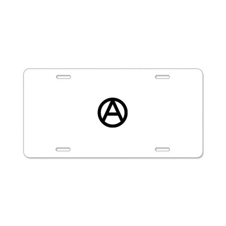 Anarchy Aluminum License Plate