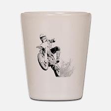 Dirtbike Wheeling in Mud Shot Glass