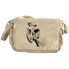 Dirtbike Wheeling in Mud Messenger Bag