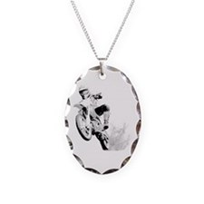 Dirtbike Wheeling in Mud Necklace