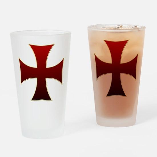 Templar Cross Drinking Glass