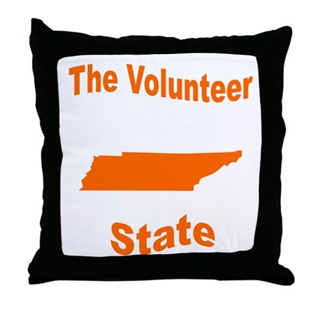 Tennessee: The Volunteer Stat Throw Pillow