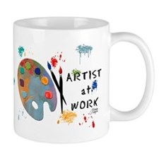 Artist At Work Small Mug