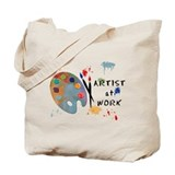 Artist at work Totes & Shopping Bags