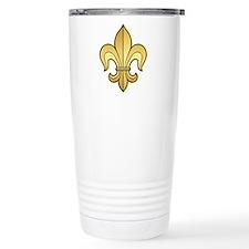Gold Fleur de lis Travel Mug