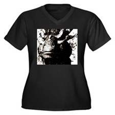 Cool Dragon pictures Women's Plus Size V-Neck Dark T-Shirt