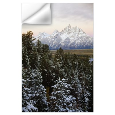 Autumn snow on Grand Teton mountains, Grand Teton Wall Decal