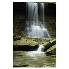 Stream below Blue Hen Falls, Cuyahoga National Par Poster