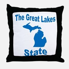 Michigan: The Great Lakes Sta Throw Pillow