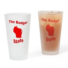 Wisconsin: The Badger State Drinking Glass