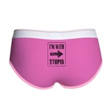 Vintage I'm With Stupid [r] Women's Boy Brief