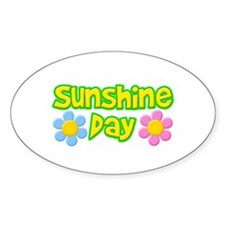 Sunshine Day Oval Decal