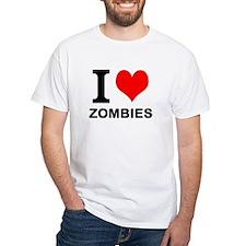 "White ""I HEART ZOMBIES"" T-Shirt"