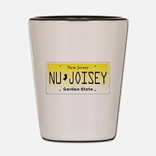NU JOISEY, New Jersey, License Plate Shot Glass