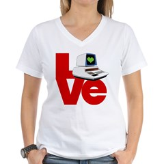 Computer Love Women's V-Neck T-Shirt