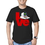 Computer Love Men's Fitted T-Shirt (dark)