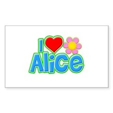 I Heart Alice Rectangle Decal