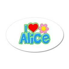 I Heart Alice 22x14 Oval Wall Peel