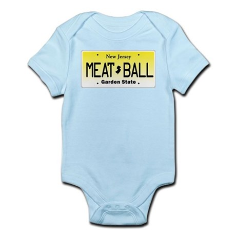 NU JOISEY, New Jersey, License Plate Infant Bodysu
