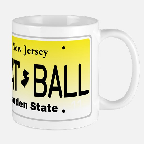NU JOISEY, New Jersey, License Plate Mug
