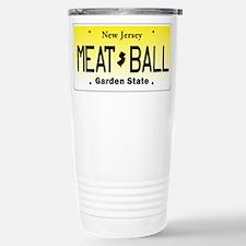 NU JOISEY, New Jersey, License Plate Travel Mug