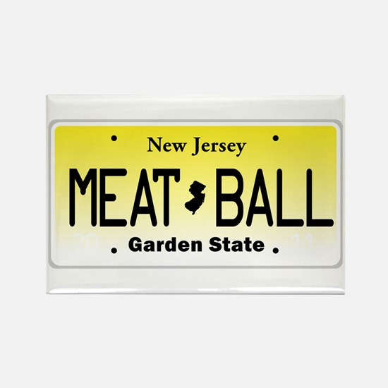 NU JOISEY, New Jersey, License Plate Rectangle Mag