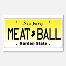 NU JOISEY, New Jersey, License Plate Decal