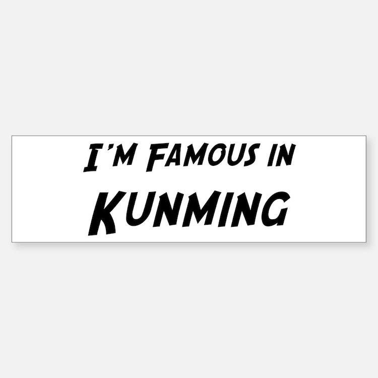 Famous in Kunming Bumper Bumper Bumper Sticker