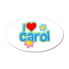 I Heart Carol 22x14 Oval Wall Peel