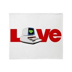 Computer Love Throw Blanket