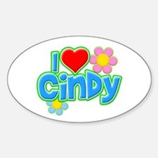 I Heart Cindy Oval Decal