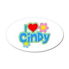 I Heart Cindy 22x14 Oval Wall Peel