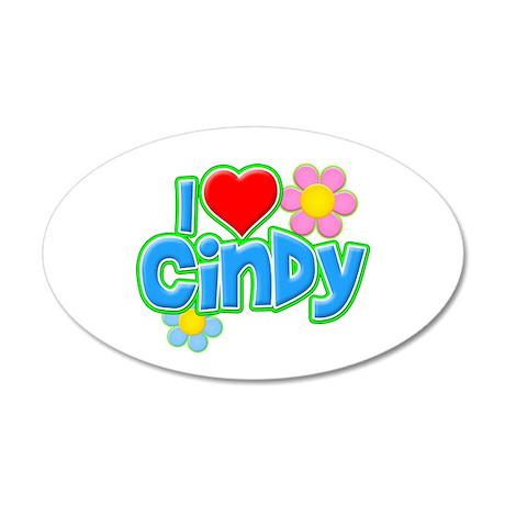I Heart Cindy 38.5 x 24.5 Oval Wall Peel