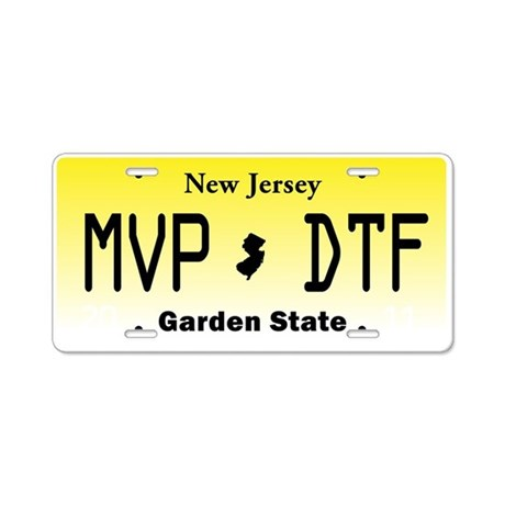 New Jersey License Plate Jersey Shore MVP DTF A By