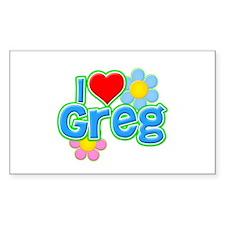 I Heart Greg Rectangle Decal