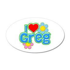 I Heart Greg 22x14 Oval Wall Peel