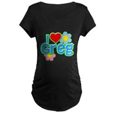 I Heart Greg Dark Maternity T-Shirt